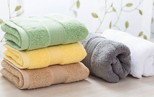 Colored bath towels